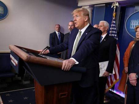 Trump mobiliza navio hospital para atender casos do novo coronavírus