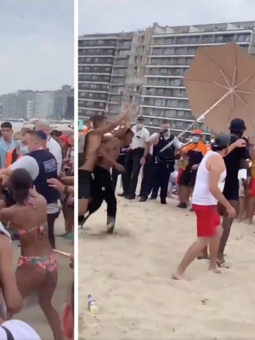 Polícia tenta impor distanciamento e é atacada por banhistas em praia na Bélgica