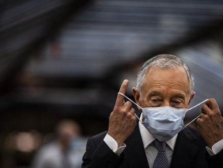Presidente de Portugal recebe teste positivo para o coronavírus