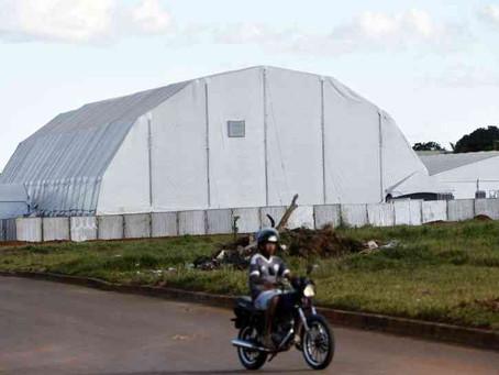 Pronto há 23 dias, hospital de campanha em Águas Lindas ainda está fechado