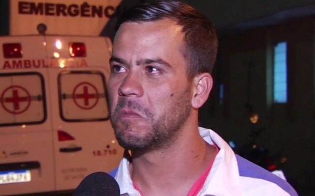 Rogério desabafou após filho desaparecer e depois ser dado como incinerado — Foto: Reprodução/TV Anhanguera