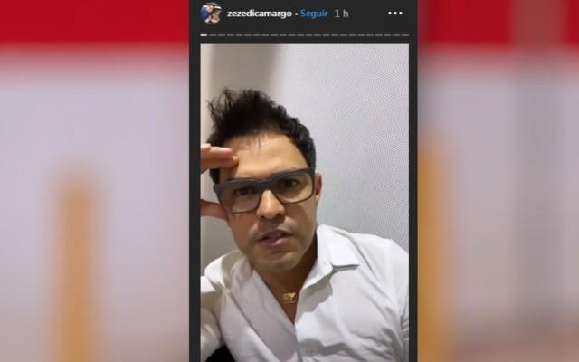 Zezé di Camargo posta vídeo em rede social explicando a doença do pai — Foto: Reprodução/Instagram