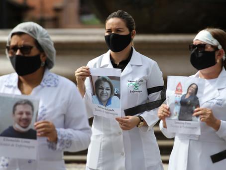 Covid-19 provocou a morte de 5.798 profissionais da saúde desde início da pandemia