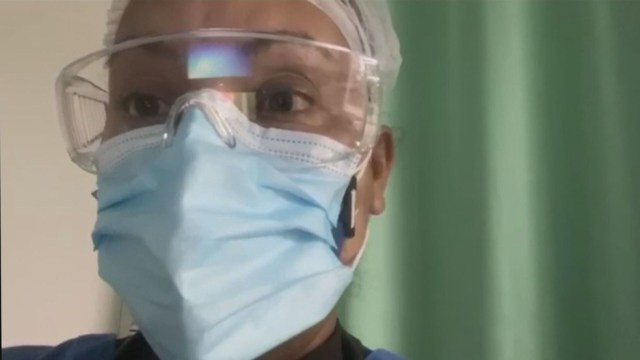 Médica intensivista Tereza Fritz conta não vê a filha Letícia há cerca de dois meses. — Foto: Reprodução / TV Globo