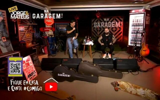 Jorge e Mateus fazem live e atingem 3 milhões de visualizações, em Goiânia, Goiás — Foto: Reprodução/Youtube