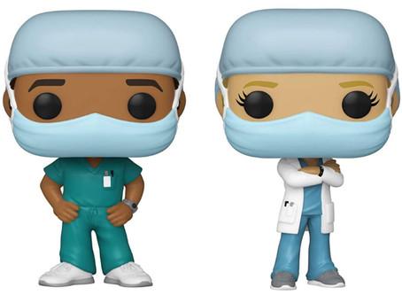 """Médicos e enfermeiros passam a integrar linha """"Pop Heroes"""" da Funko"""