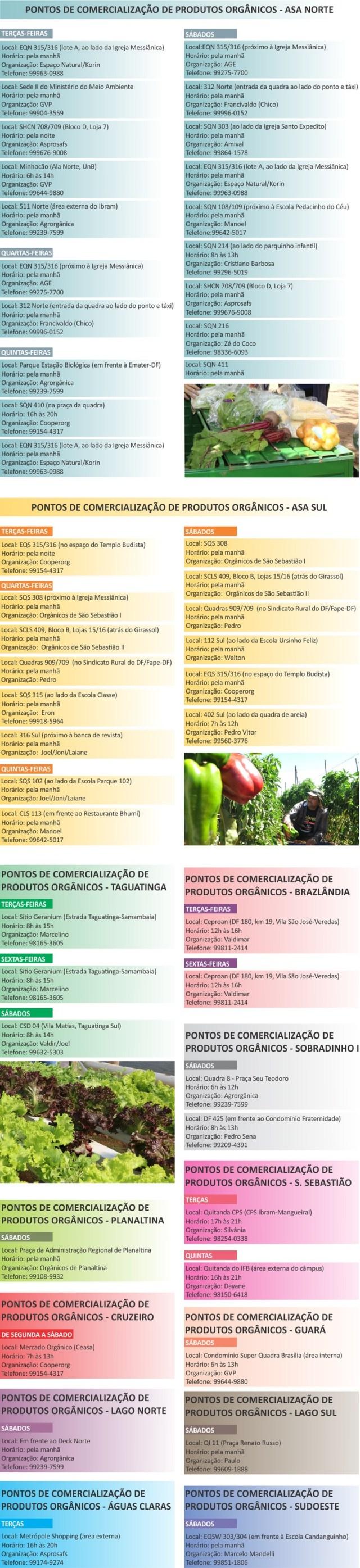 Governo do Distrito Federal divulga lista de agricultores que oferecem drive-thru ou delivery — Foto: Emater-DF/Divulgação