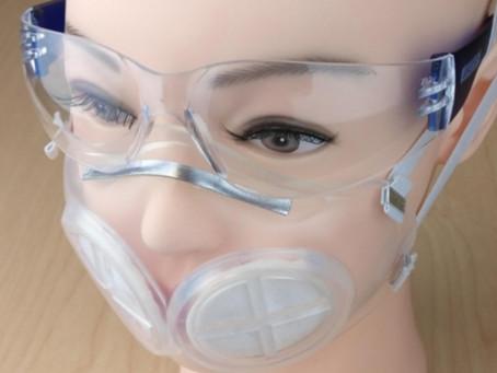 Harvard e MIT criam protótipo de máscara hospitalar reutilizável