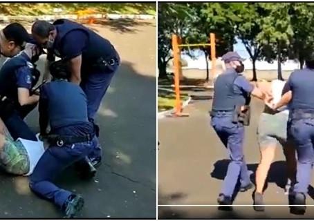 VÍDEO: mulher morde guarda e é detida após abordagem por descumprir decreto em Araraquara
