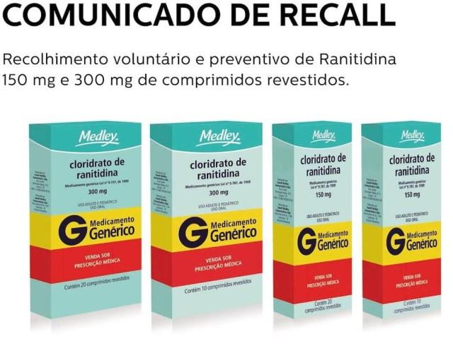 Medley anunciou o recolhimento de medicamento por possível contaminação com impureza de potencial cancerígeno — Foto: Reprodução/Medley
