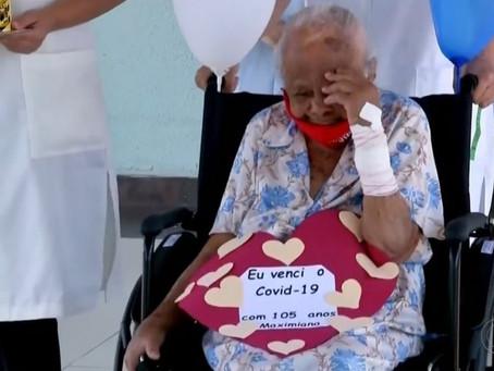 Mulher de 105 anos está entre os idosos que venceram surto de Covid em casa de repouso