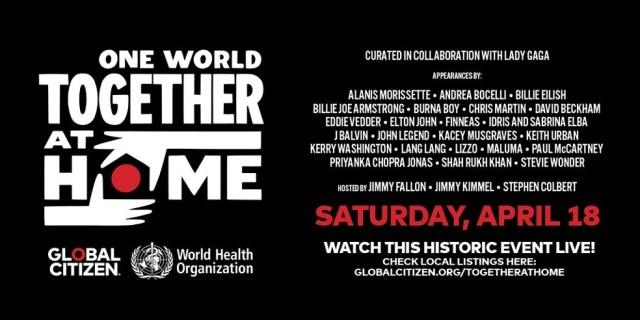Evento será realizado em parceria com a instituição Global Citizen — Foto: Reprodução