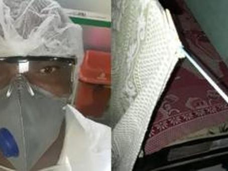 'Durmo no terraço para não infectar minha mãe', diz técnico em enfermagem que ganha R$ 8