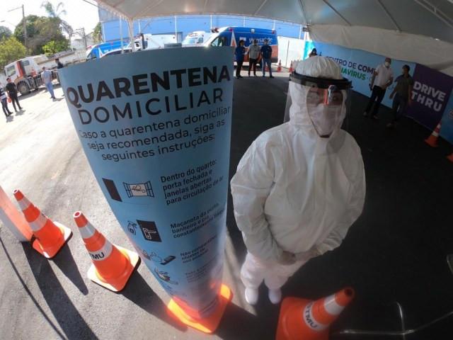 Ao todo 100 profissionais foram contratados emergencialmente para prestar atendimento no Centro de Combate ao Coronavírus (CCC), em Guarulhos  — Foto: Divulgação/Prefeitura de Guarulhos