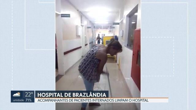 Empresa de limpeza não paga funcionários e higiene de hospitais fica comprometida no DF