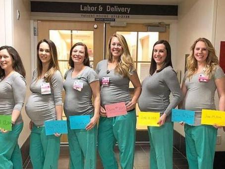 Coincidência? Nove enfermeiras da mesma maternidade ficam grávidas ao mesmo tempo