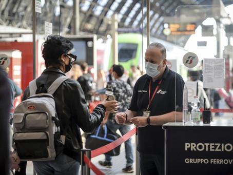 Itália amplia obrigação do passe de Covid para aviões, trens e ônibus