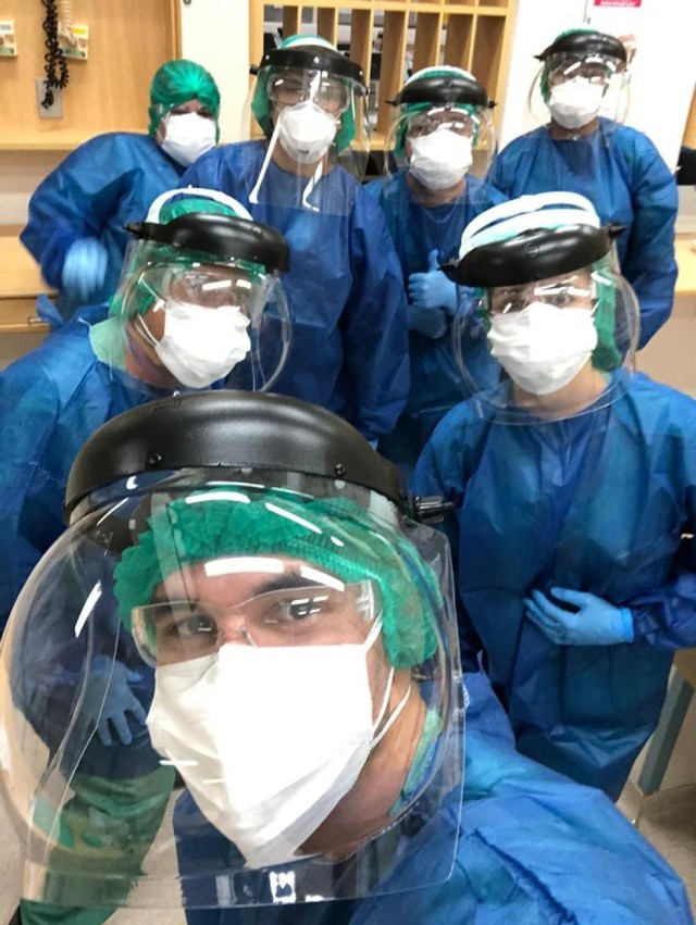 Enfermeira trabalha em hospital de Sorocaba — Foto: Arquivo pessoal