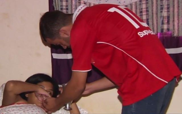 Rogério diz que a esposa só chora e está à base de medicamento — Foto: Reprodução/TV Anhanguera