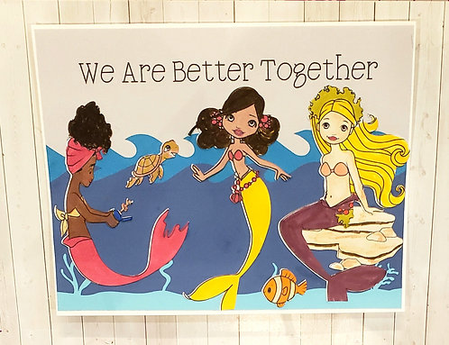 Allyship Card with Mermaids