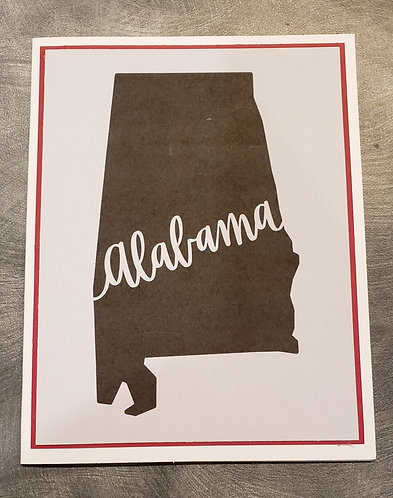 Note Card-Alabama