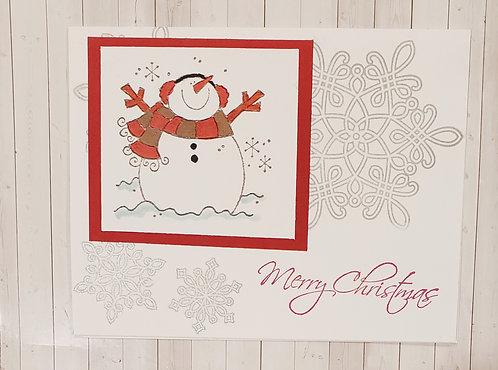 Christmas-Snowman Card