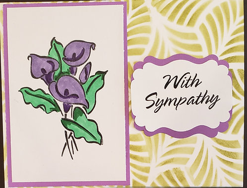Sympathy - Purple Flowers