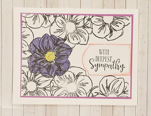 Sympathy Card-Violet