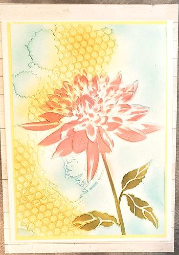 Blank Note Card-Chrysanthemum