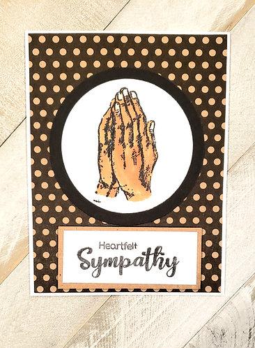 Sympathy Card, Praying Hands