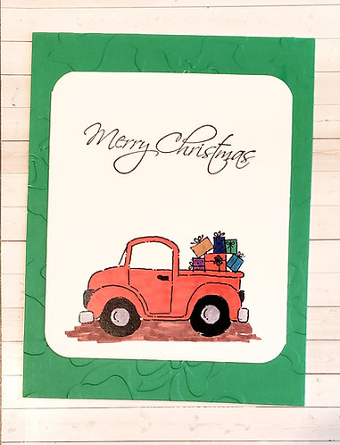 Merry Christmas -Truck Red