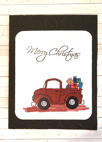Merry Christmas -Truck Brown