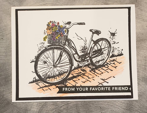 Friendship Card-Bicycle