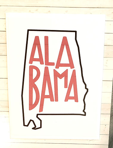 Blank Note Card-Alabama
