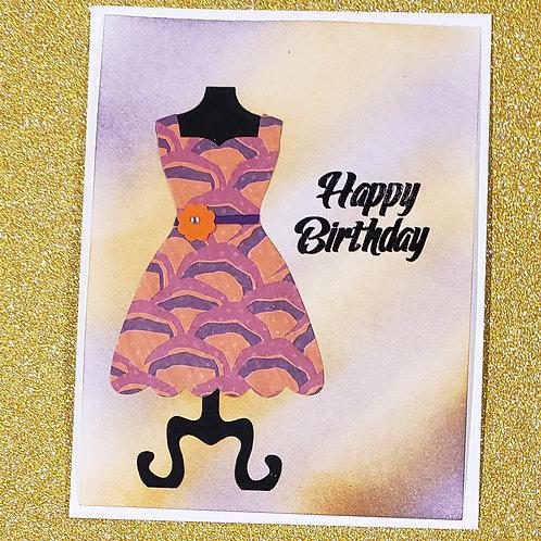 Birthday Card-Party Dress