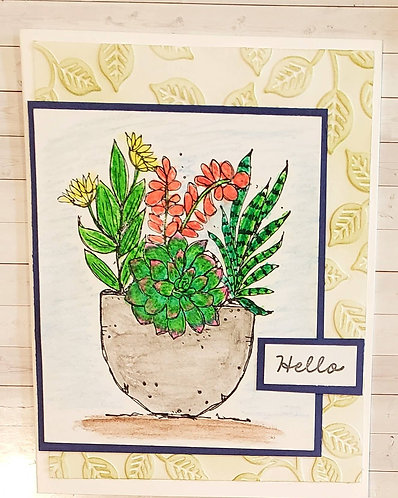 Blank Note Card-Hello