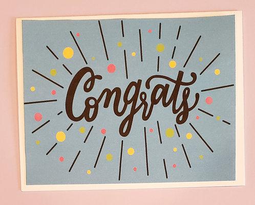 Congratulations -Confetti (Blue)