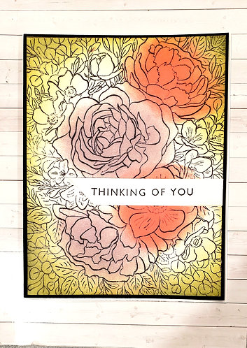 Thinking of You -Floral Background