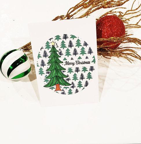Merry Christmas Card-Tree