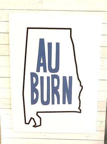 Blank Note Card- Auburn
