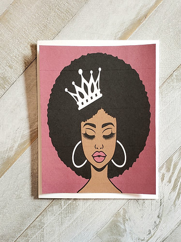 Note Card- Beautiful Queen