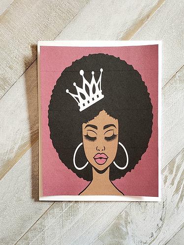 Note Card- Beautiful Queen