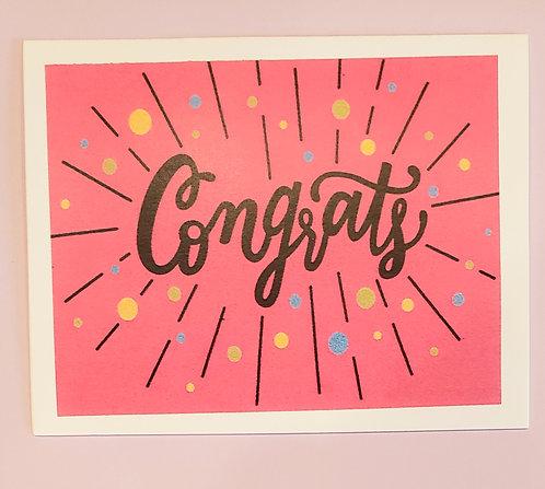 Congratulations -Confetti (Pink)