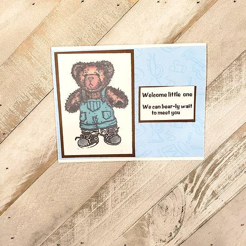 Baby Card-Teddy Bear