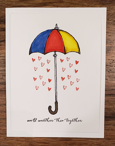 Encouragement Card-We'll Weather This Together