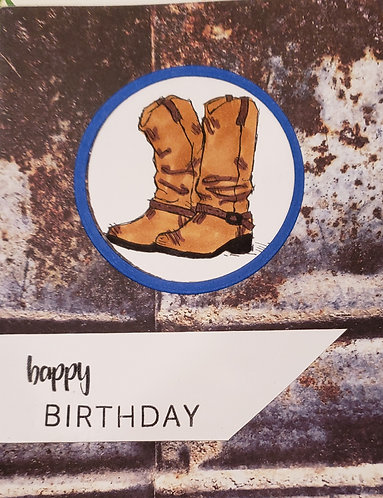 Birthday Card - Boots