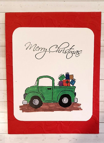 Merry Christmas -Truck Green
