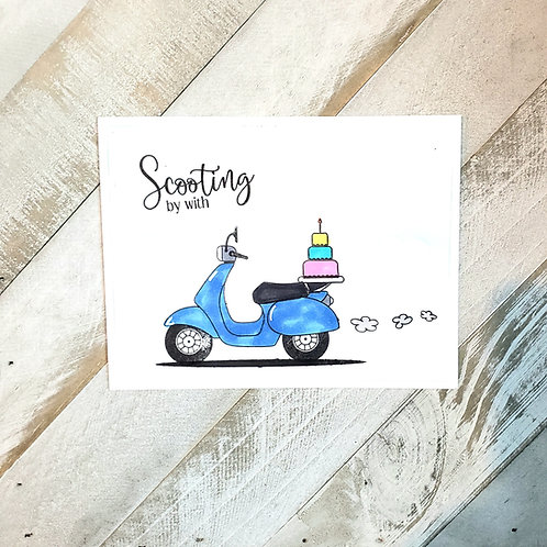 Birthday Card-Scooter