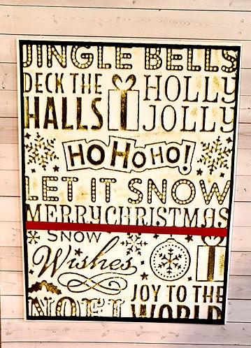 Christmas Card- Ho Ho Ho Green