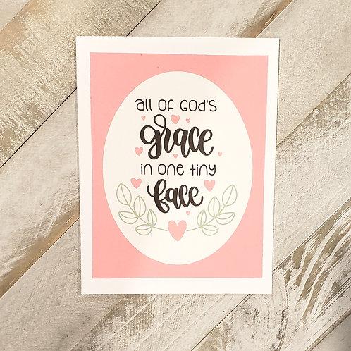 Baby  Card- Grace (Girl)